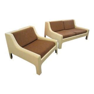 Cappellini Sofa and Chair set in Painted White Fiberglass