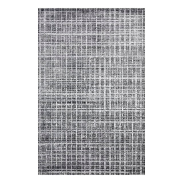Wesley, Contemporary Modern Loom Knotted Area Rug, Charcoal, 4 X 6 For Sale - Image 10 of 10