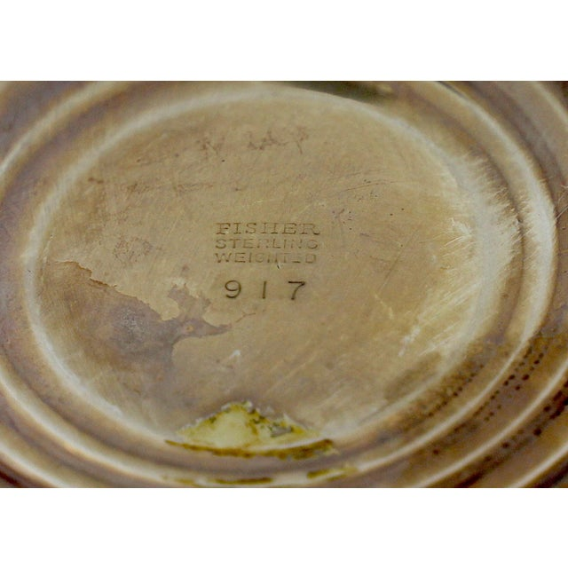 Vintage Fisher Sterling Compote For Sale - Image 9 of 11