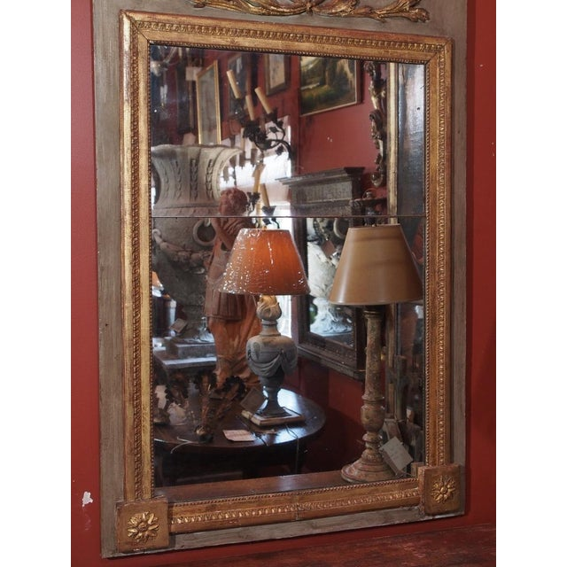 French 19th Century French Trumeau Mirror For Sale - Image 3 of 7