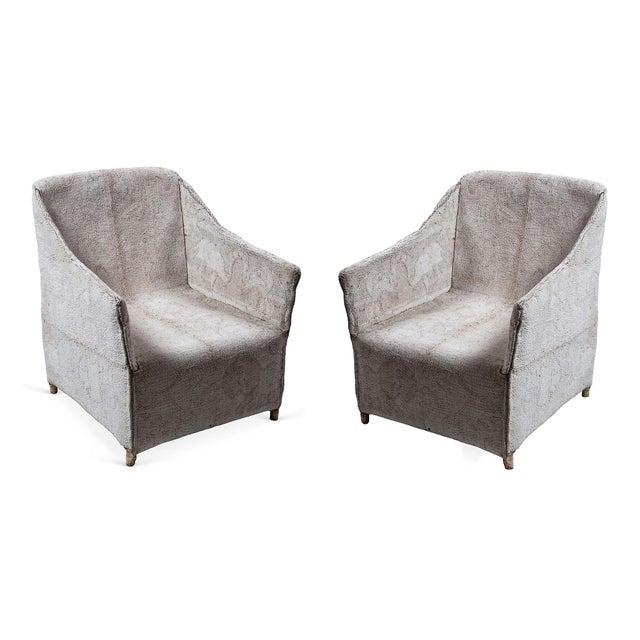 Mid 20th Century Pair of White Beaded Chairs For Sale - Image 10 of 11