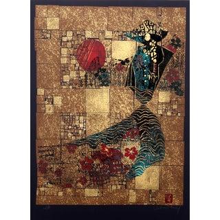 Lebadang 'Man and Sun' Silkscreen Print For Sale