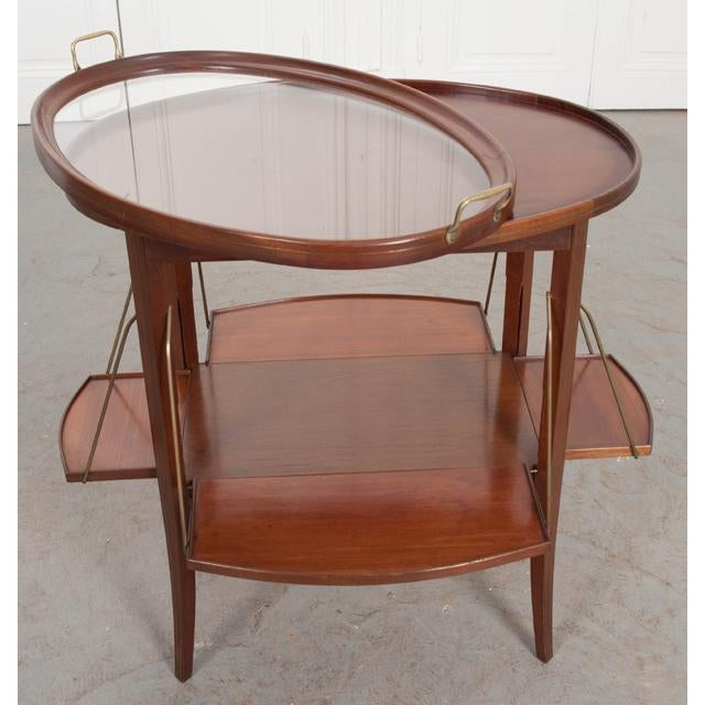 French Early 20th Century Oval Mahogany Tea Table For Sale - Image 4 of 13