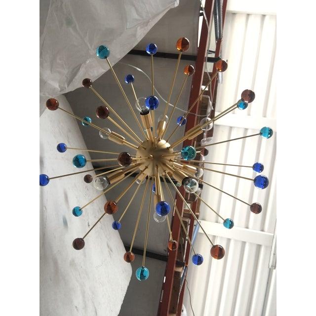 Contemporary Murano Glass Triedo Sputnik Chandelier For Sale - Image 11 of 13