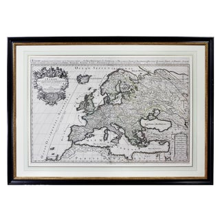 Framed Map of Europe by Nicholas Sanson For Sale