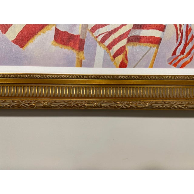 """Contemporary """"Stars and Stripes"""" Contemporary American Flag Giclee by Debbie Hearle, Framed For Sale - Image 3 of 5"""