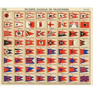 Flags of American Yachtsmen, 1930s For Sale