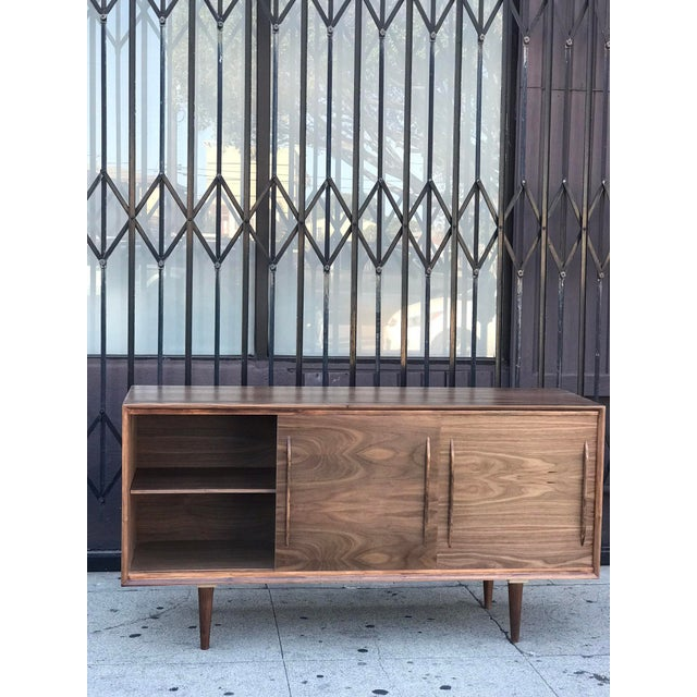 Contemporary Media Stand With Arched Handles For Sale - Image 9 of 12