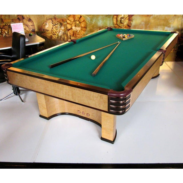 Donald Deskey Designed Brunswick Paramount Pool Table For Sale In Los Angeles - Image 6 of 9