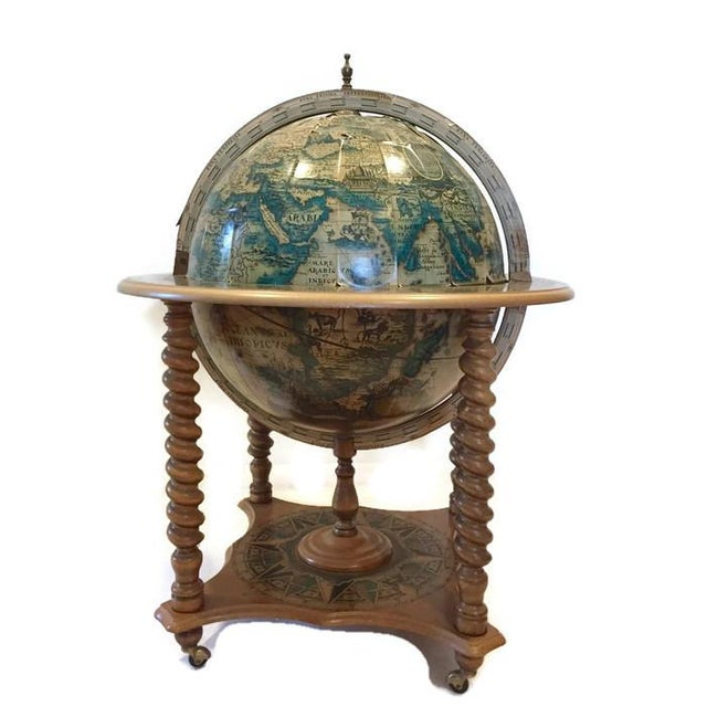 Mid-Century World Globe Bar Cart - Image 4 of 10