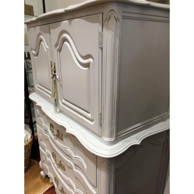 """Ella"" Tall Light Grey French Provincial Dresser - Image 2 of 6"
