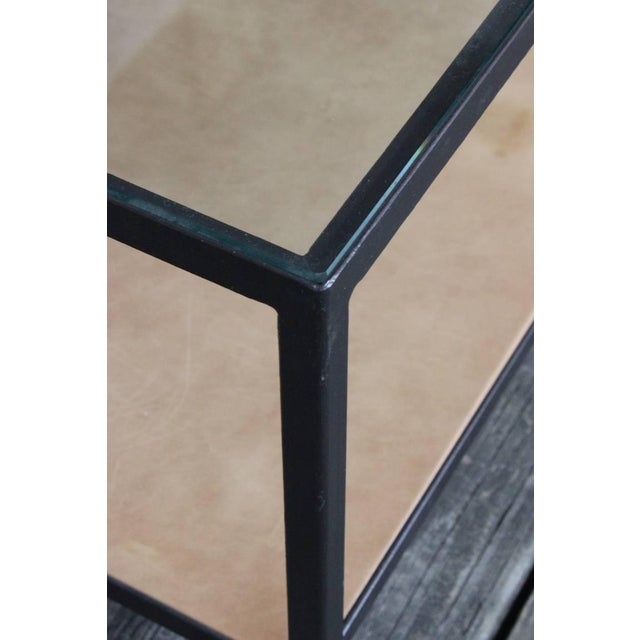 Custom-Made Marcelo Coffee Table with Clear Glass Top For Sale - Image 5 of 9
