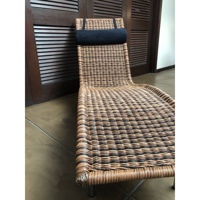 Interior Wicker Chaise Lounge For Sale In Saint Louis - Image 6 of 11