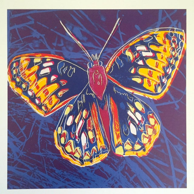 """Paper Andy Warhol Estate Rare Vintage 1992 Endangered Species Collector's Lithograph Print """" San Francisco Silverspot Butterfly """" 1983 For Sale - Image 7 of 9"""