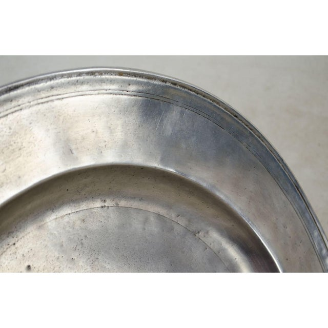 Italian Italian Pewter Scribed Center Platter by Match Italy For Sale - Image 3 of 10