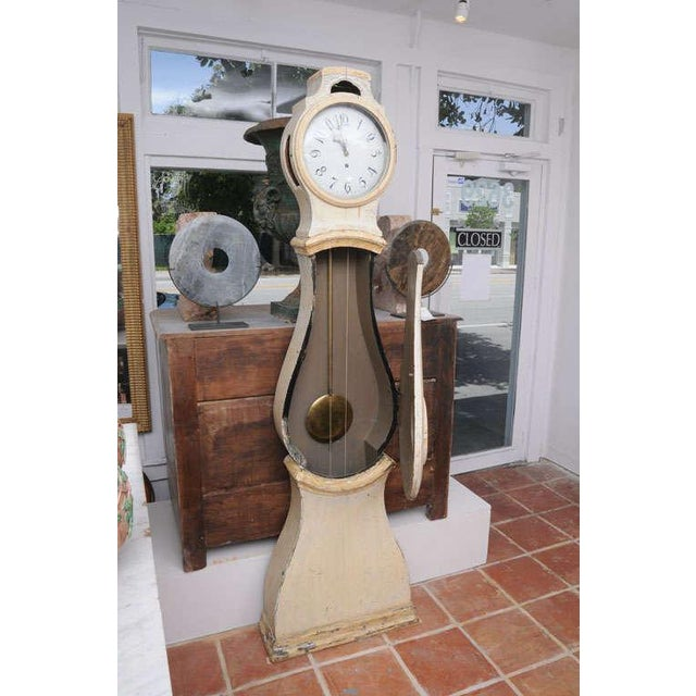 Painted Gustavian Mora Clock For Sale In Washington DC - Image 6 of 8