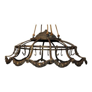 1925 French Bronze Pot Rack For Sale