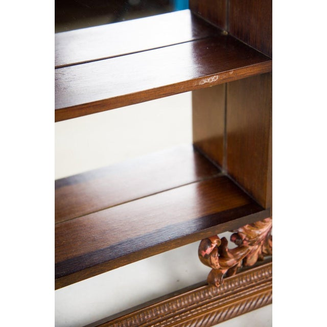1960s Victorian Mahogany Decorative Wall Mirror With Shelves For Sale - Image 4 of 9