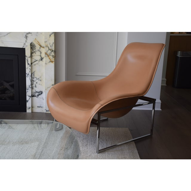Contemporary B&b Italia Leather Mart Chair For Sale - Image 3 of 12
