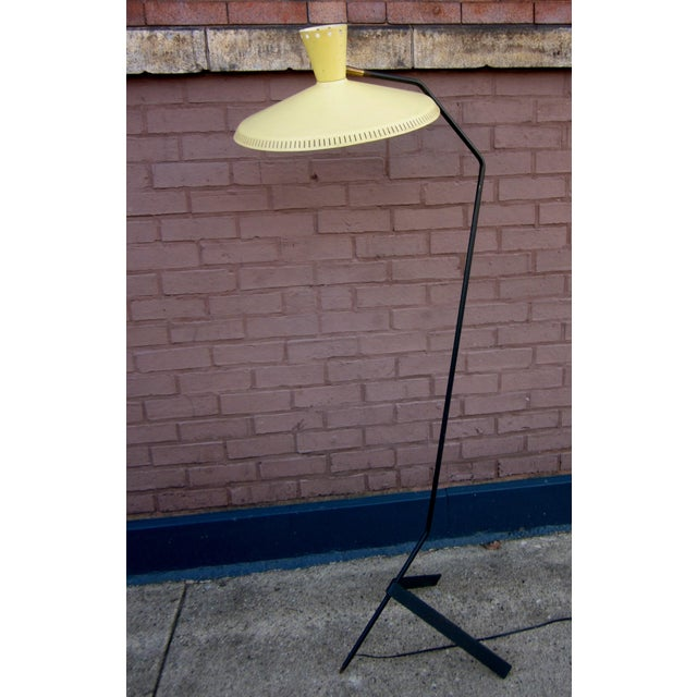 his is an amazing, unique 1950s era Italian modernist floor lamp. It is very evocative of the iconic styles designed by...