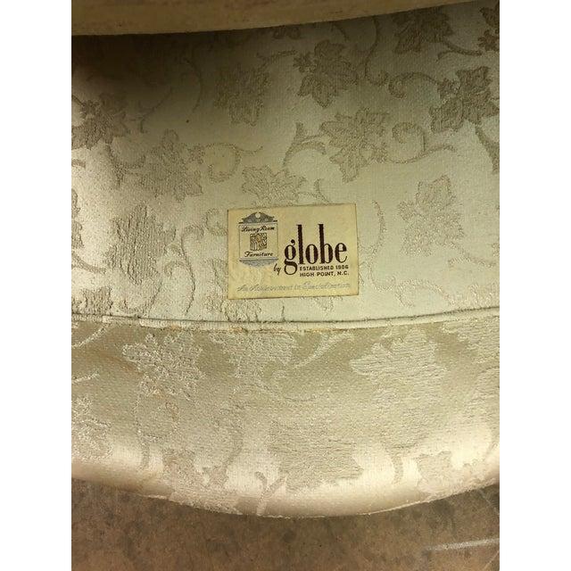 Cream Queen Anne White Sofa For Sale - Image 8 of 10