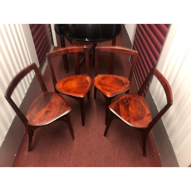 Rare full set of antique SNUG SEAT Soda Fountain Chairs and table - from the W.B. McLean Manufacturing Co. of Pittsburgh,...