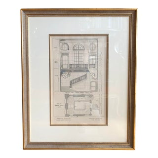 Antique 18th C Neoclassical French Architectural Engraving For Sale
