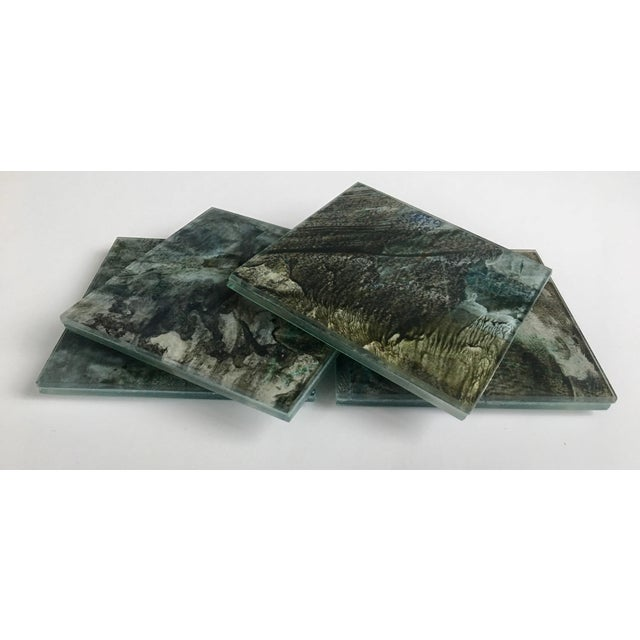 Upcycled Glass Coasters - Set of 4 - Image 3 of 8