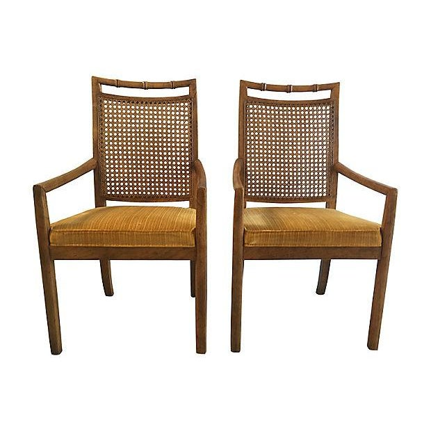 Heritage Faux Bamboo Dining Chairs - Set of 6 - Image 8 of 8