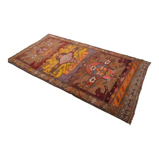 Hand Knotted Kurdish Tribal Rug - 6′1″ X 12′ For Sale