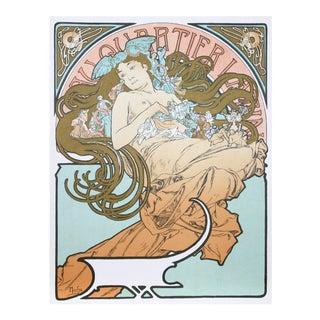 """Alphonse Mucha, """"Au Quartier Latin"""", Art Nouveau Poster"""