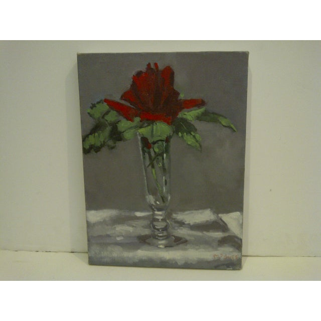 "Cottage ""Flowering Vase"" Original by Painting McDuff For Sale - Image 3 of 10"