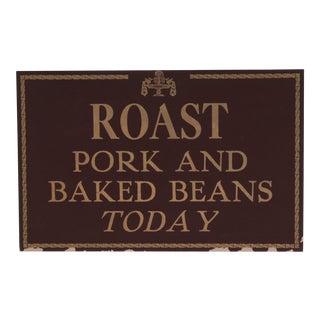 Roast Pork Restaurant Sign For Sale