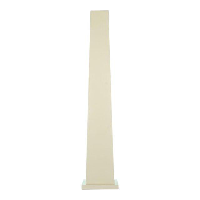 Ivory Lacquered Backlit Obelisk Pedestal For Sale