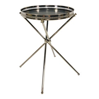 Silver Plated Tray on Stand