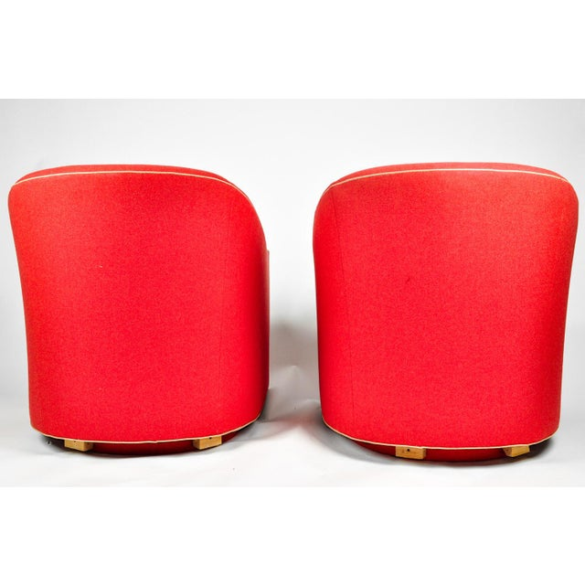 1960s Barrel Chairs, S/2 - Image 4 of 11