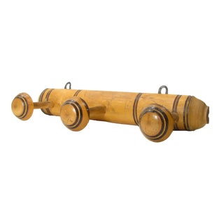 French Deco Wooden Towel Rack For Sale