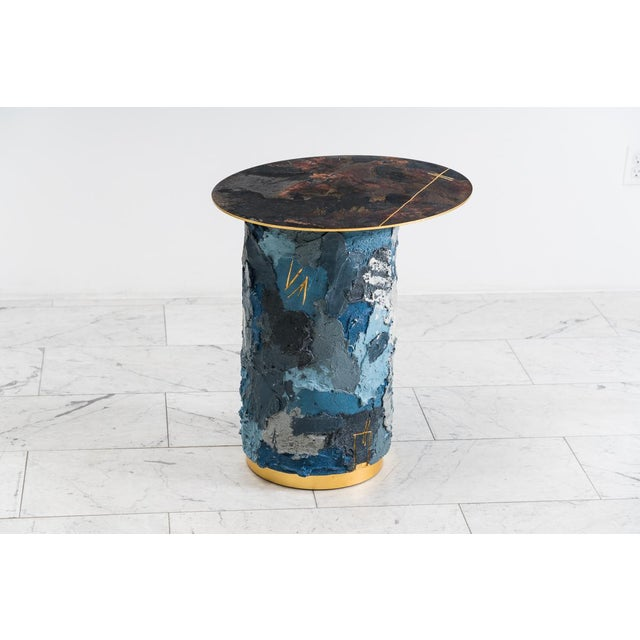 Concrete and Steel Occasional Table, Usa, 2019 For Sale - Image 9 of 12