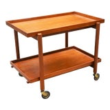 Image of Mid-Century Danish Modern Bar Cart in Teak by Poul Hundevad For Sale