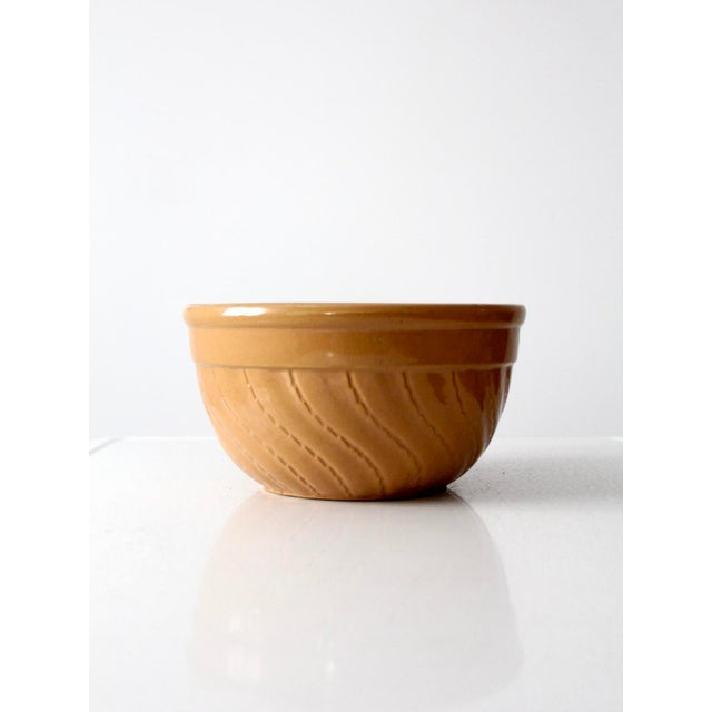 Americana Vintage Yellow Ware Bowl For Sale - Image 3 of 8