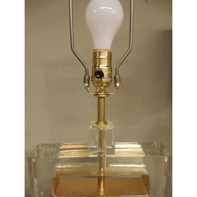 Plastic Pair of Italian Murano Glass Table Lamps For Sale - Image 7 of 10