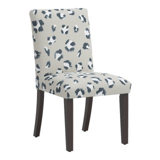 Dining Chair in Brush Cheetah Ivory For Sale