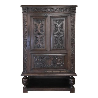 Antique French Renaissance Raised Cabinet For Sale