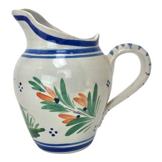 French H B Quimper Pitcher For Sale