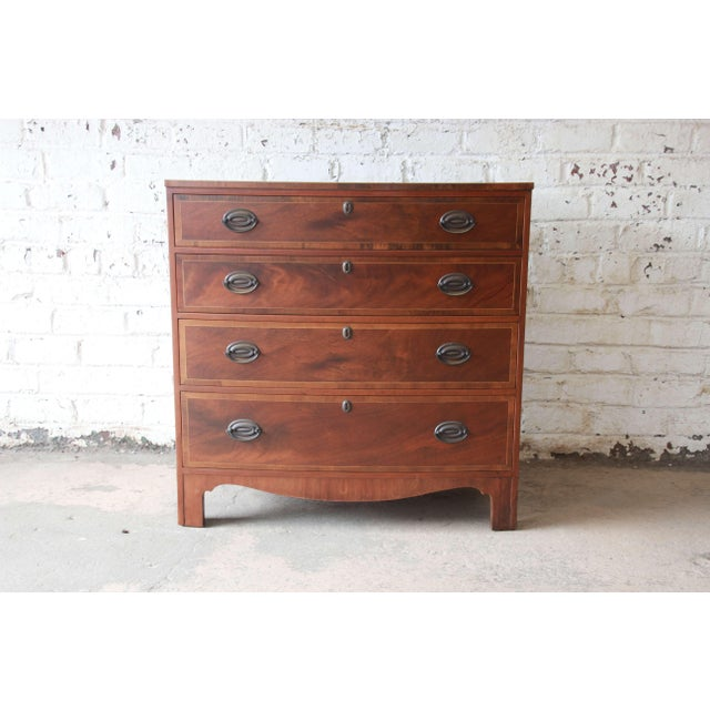 Baker Furniture Four-Drawer Mahogany Bachelor Chest For Sale - Image 11 of 11