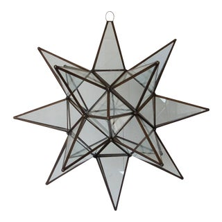 Mexican Handmade Large Star Light - Clear For Sale