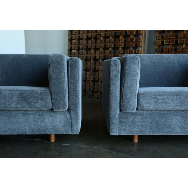 Harvey Probber 1960s Harvey Probber Grey Mohair Lounge Chairs - a Pair For Sale - Image 4 of 13