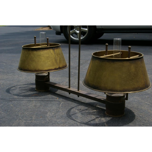 1900's Antique Brass Light For Sale - Image 4 of 4