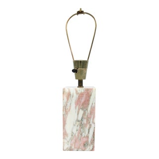 1950s Pink Marble Table Lamp by Vermont Marble Company For Sale
