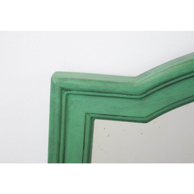 Vintage Green Mirror For Sale - Image 5 of 9